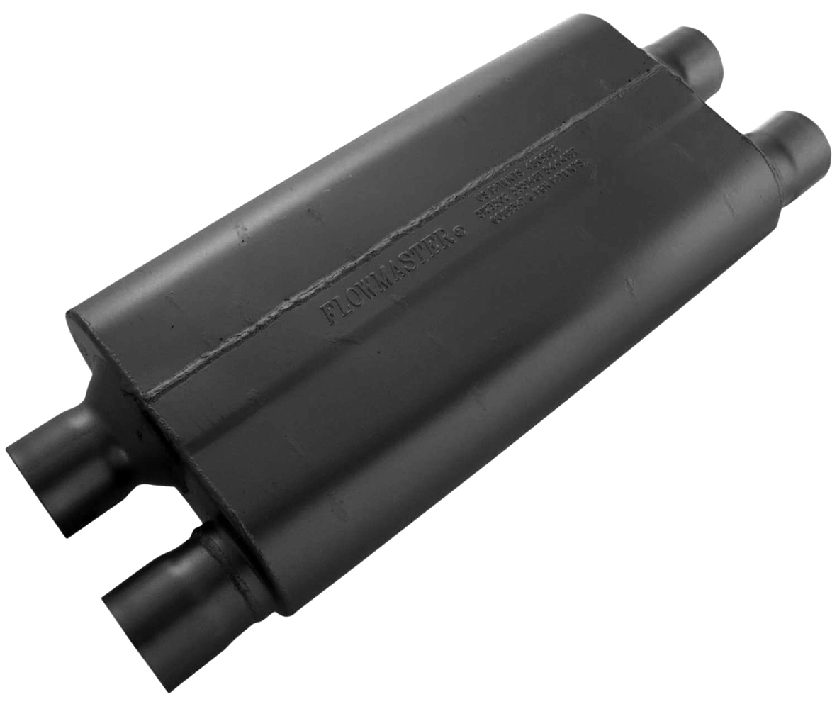Single chamber flowmaster exhaust