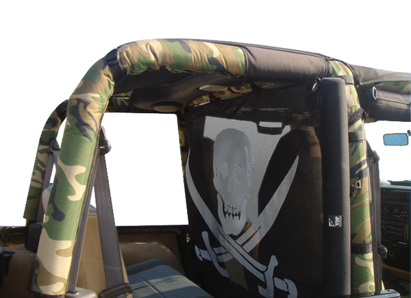 Vdp jeep sport bar cover jeep roll bar cover - Jeep cherokee exterior roll cage ...