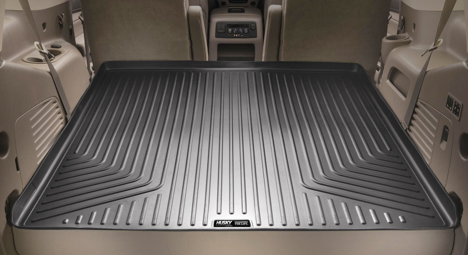 Husky Liners 25721 Black Rear WeatherBeater Cargo Liner for Toyota 4Runner