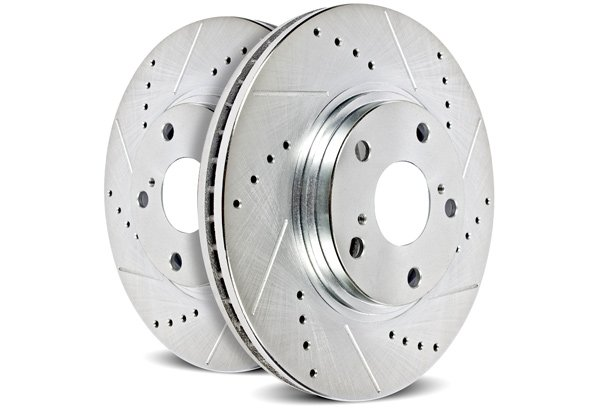 Power Stop Cross Drilled and Slotted Rotors