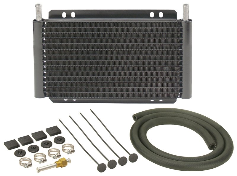 Racing Transmission Fluid Cooler : Derale series plate fin transmission cooler kit