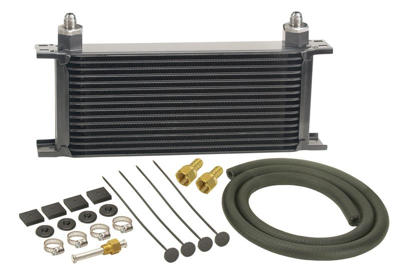 Racing Transmission Fluid Cooler : Derale series stacked plate transmission cooler kit