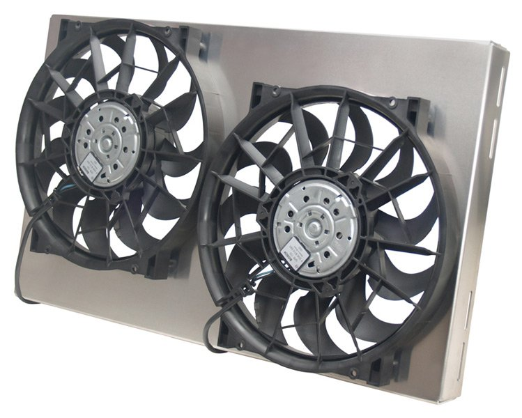 Electric Cooling Fans : Derale dual high output electric radiator fan free shipping