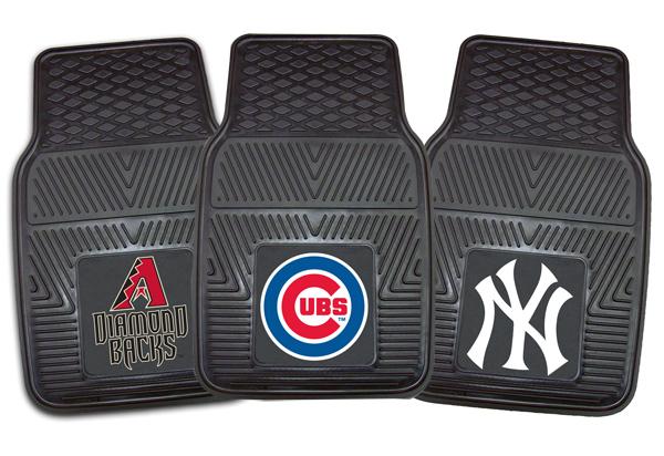 Monogrammed Floor Mats >> Fanmats MLB Vinyl Floor Mats - Custom Baseball Logo Mats ...