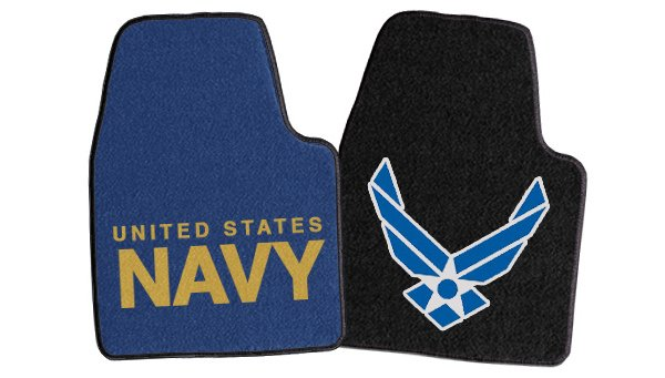 Fanmats Military Logo Carpet Floor Mats