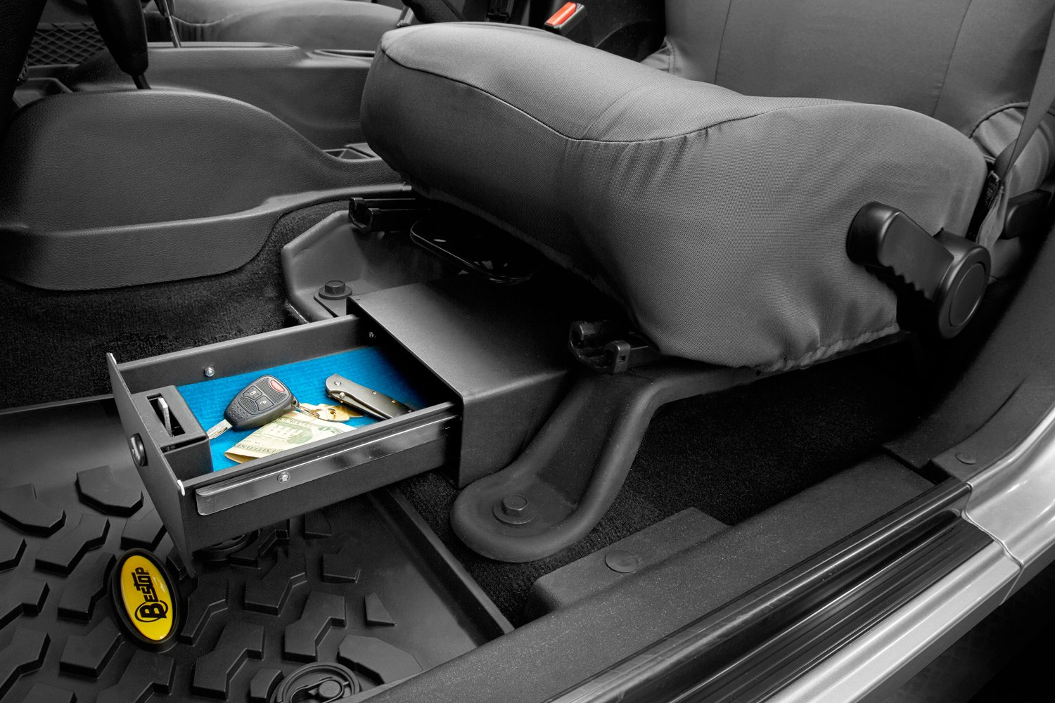 Bestop Jeep Storage Bestop Under Seat Locking Storage Box