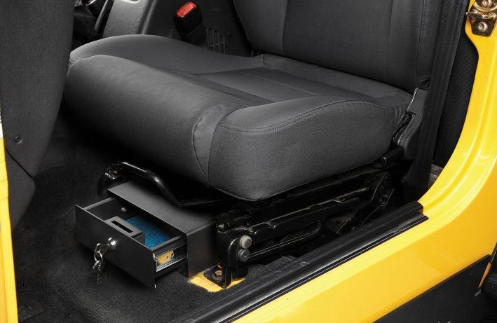 2007 2018 Jeep Wrangler Bestop Under Seat Locking Storage