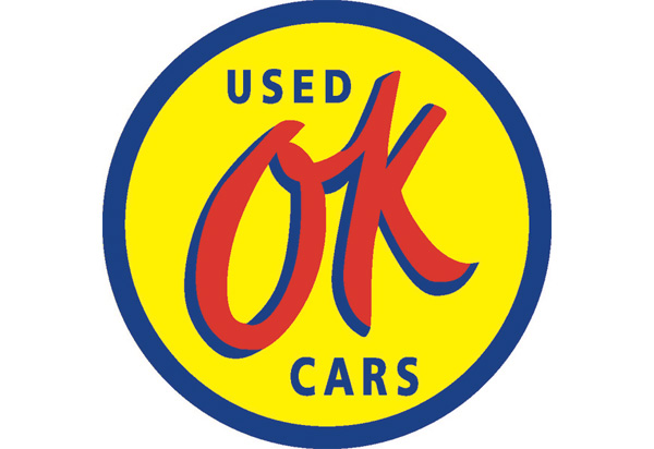 OK Used Cars Vintage Sign by SignPast