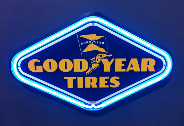 Goodyear Sign Goodyear Tires Vintage Garage Sign By Signpast