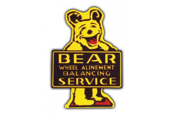 Bear Service Vintage Sign by SignPast