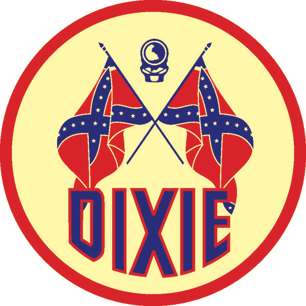Dixie gas metal garage sign dixie oil vintage sign by for Wholesale motor oil prices