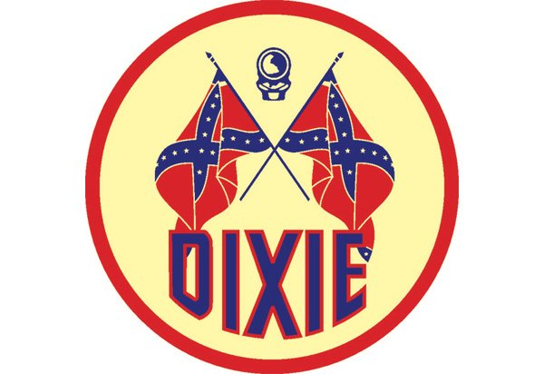 Dixie Gas Metal Garage Sign Dixie Oil Vintage Sign By