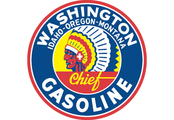 Washington Gasoline Vintage Sign by SignPast