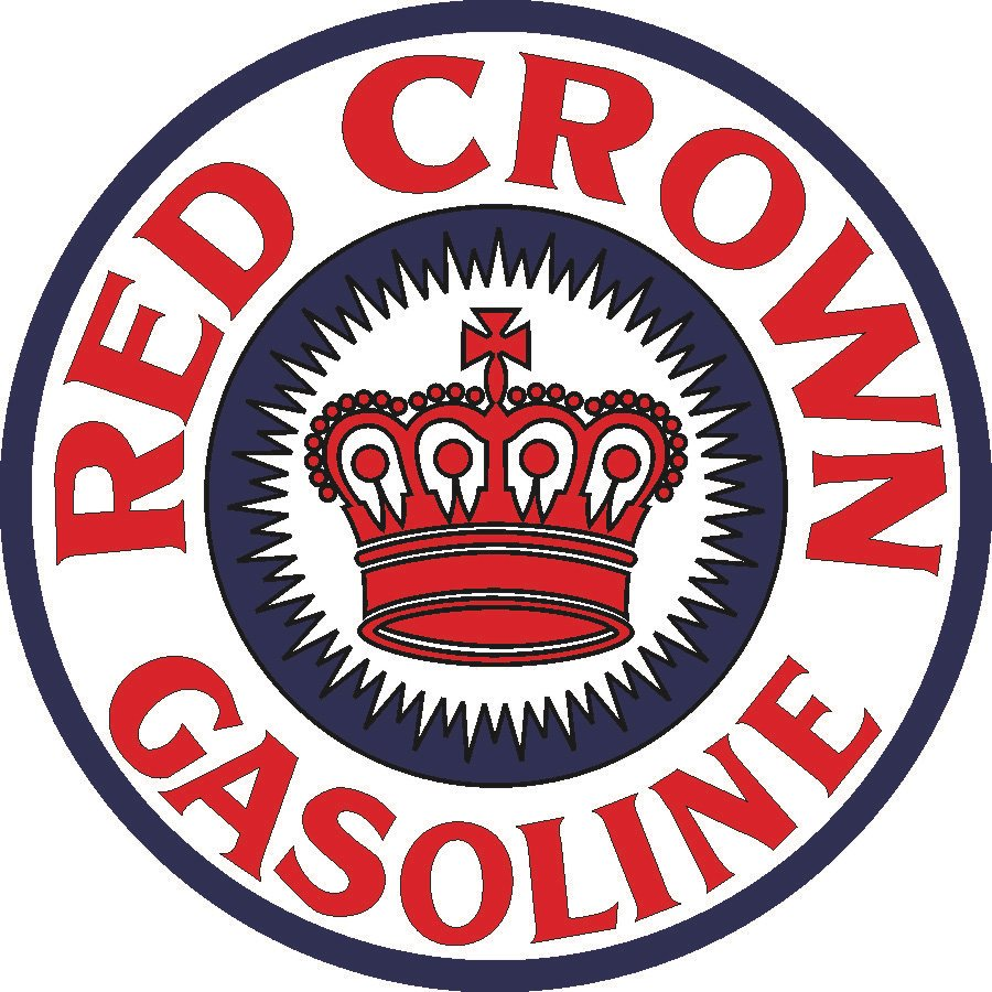 Red Crown Gasoline Vintage Sign By Signpast Free Shipping