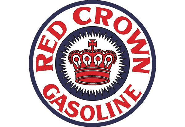 Red Crown Gasoline Vintage Sign by SignPast