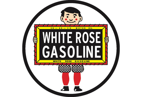 White Rose Gas Vintage Sign by SignPast