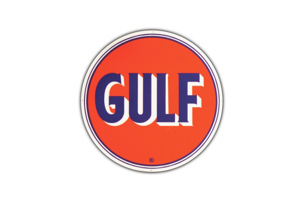 Gulf Oil Sign Gulf Oil Vintage Garage Sign By Signpast