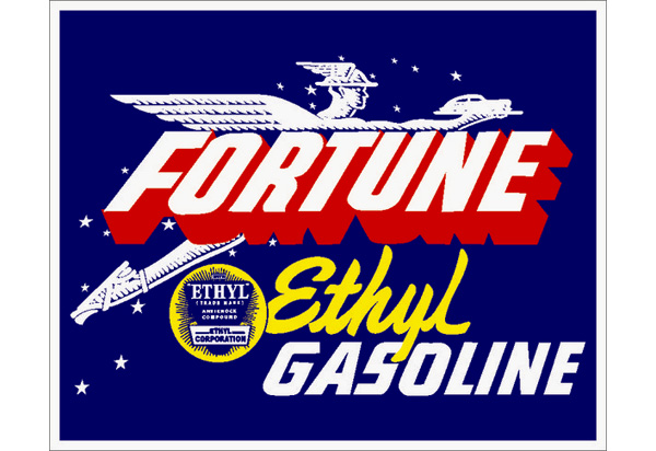 Fortune Gas Vintage Sign by SignPast