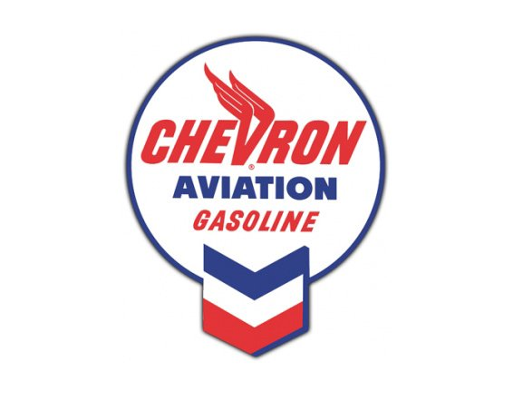 Chevron Aviation Gas Vintage Sign By Signpast Free Shipping