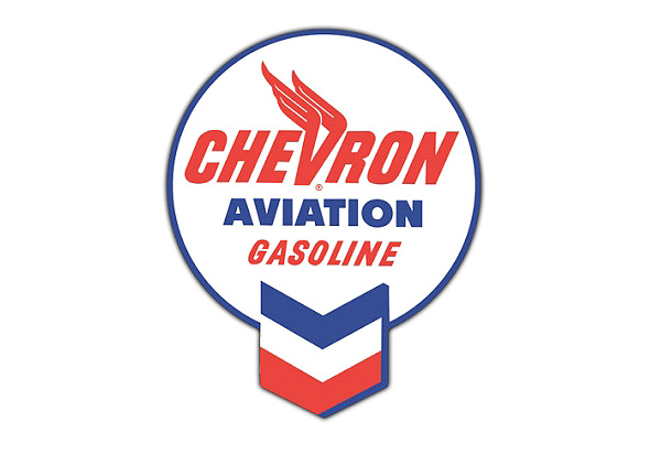 Chevron Aviation Gas Vintage Sign by SignPast