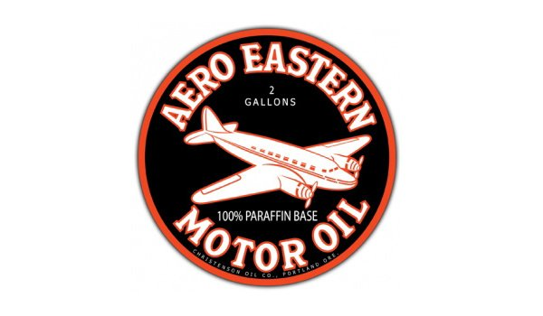 Aero Eastern Motor Oil Vintage Sign by SignPast