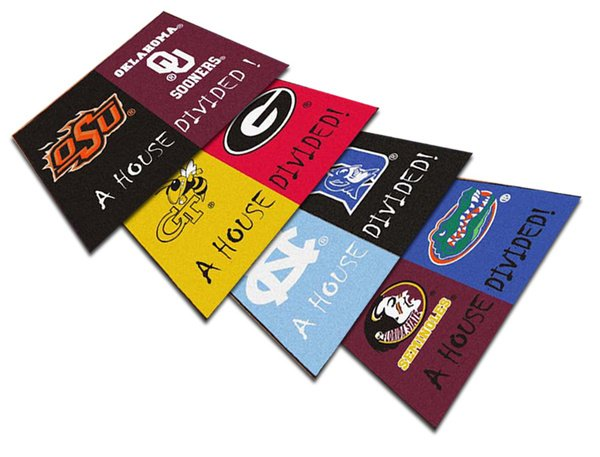 Fanmats NCAA House Divided Mat