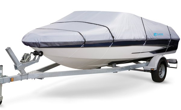 Classic Accessories Silver Max Boat Cover