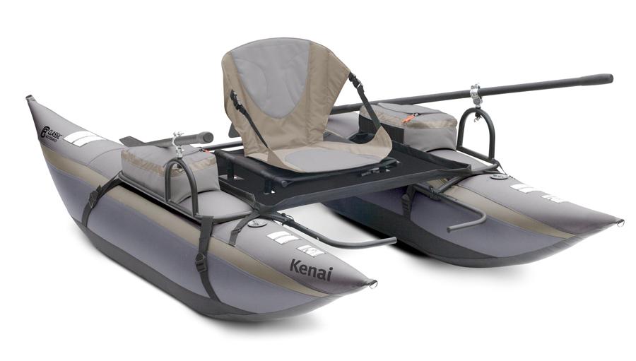 Kenai pontoon boat classic accessories mini fishing boat for Inflatable pontoon fishing boat