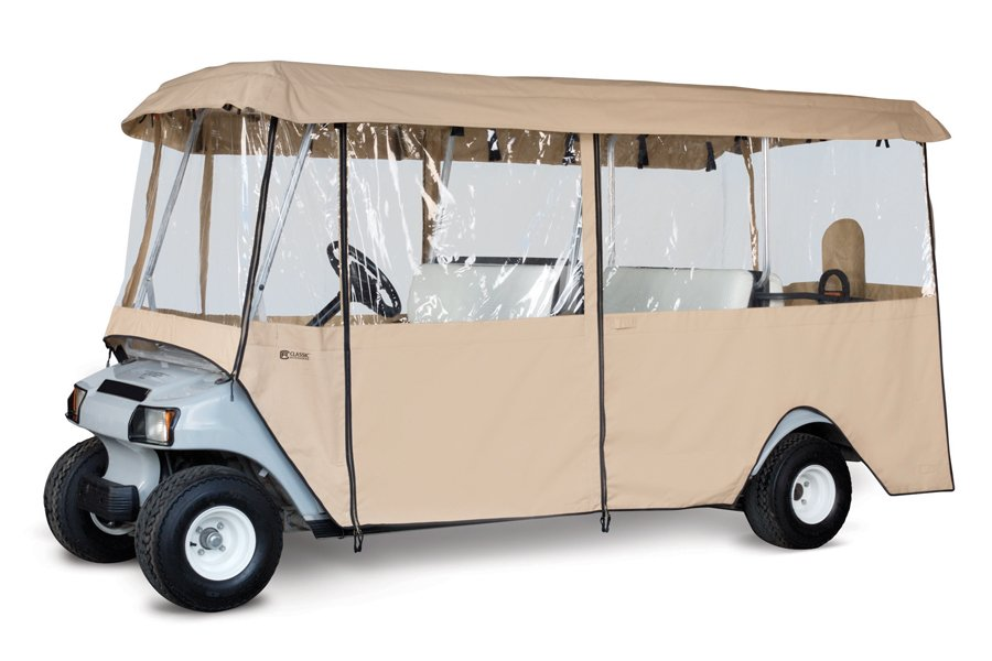 Classic Accessories Deluxe 6 Passenger Golf Cart Enclosure