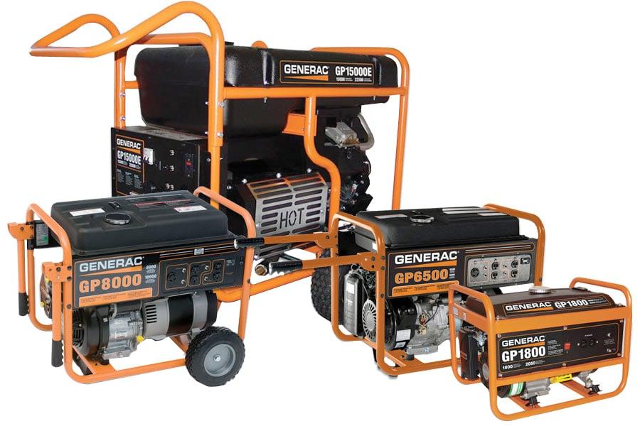 generac gp series portable generator   free shipping