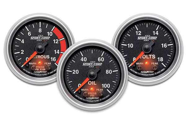 AutoMeter Sport-Comp II Pro-Control Series Gauges