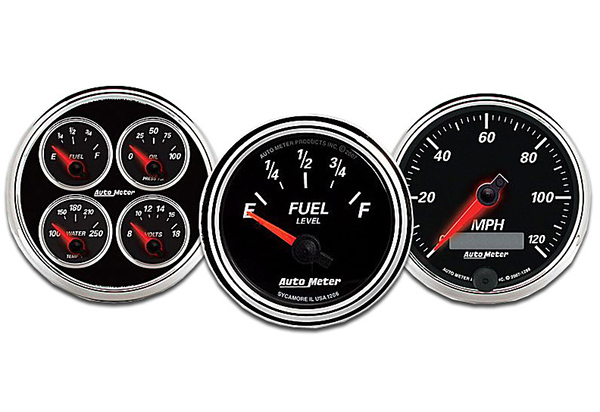 AutoMeter Street Rod Designer Black II Series Gauges