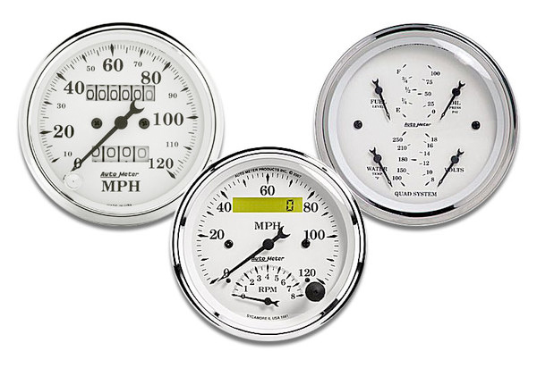 AutoMeter Street Rod Old Tyme White Series Gauges