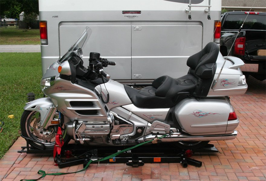 Blue Ox RV Motorcycle Carrier, Blue Ox Hitch Motorcycle ...