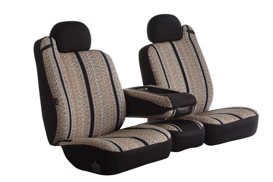FIA TRS49-55 Custom Fit Cover TRS49-55 GRAY Front Bucket Seats-Saddle Blanket, Solid Gray