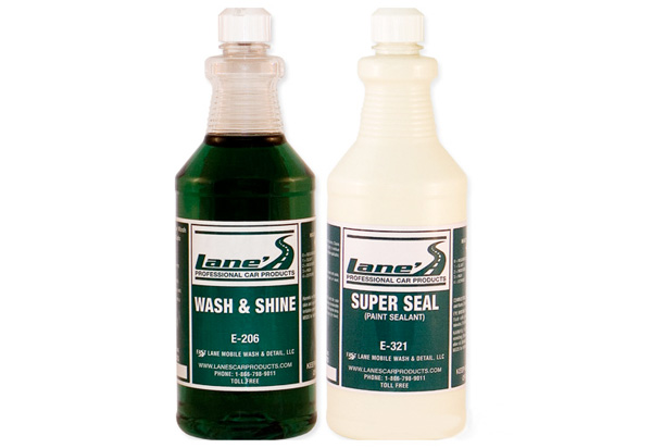 Lane's Car Wash Soap & Paint Sealant Wax Kit