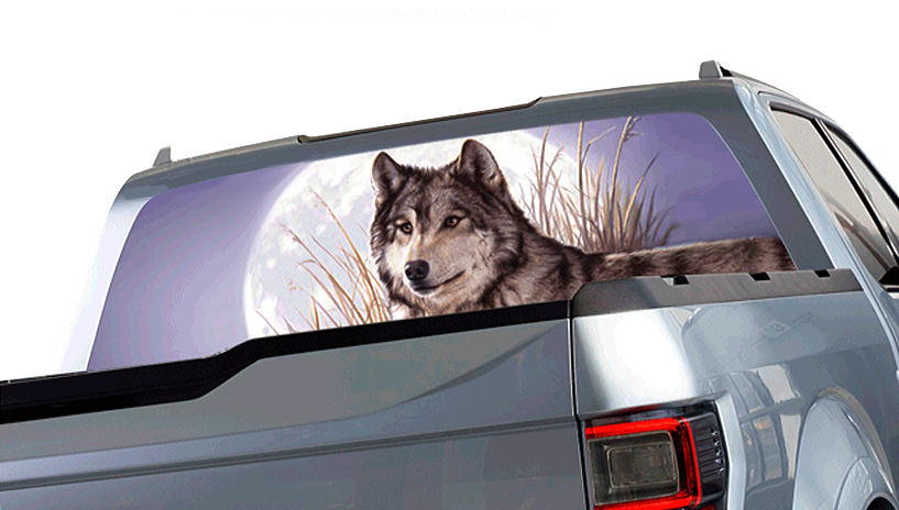 Window Canvas Wildlife Window Graphic Free Shipping - Truck back window decals