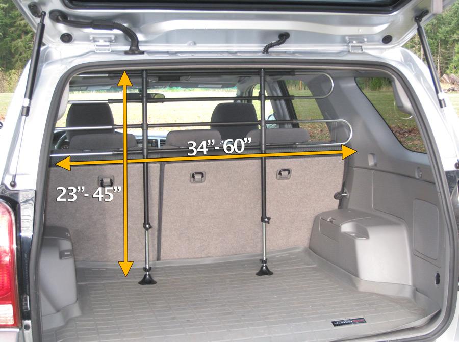 Car Dog Barrier: PortablePET Pet Partition, PortablePET Animal Barrier