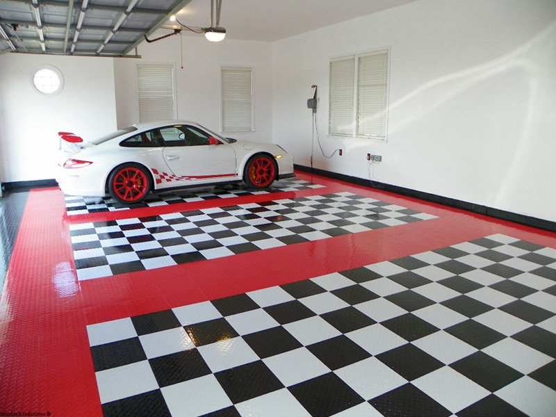 Racedeck garage flooring racedeck garage floor tiles for Garage deck