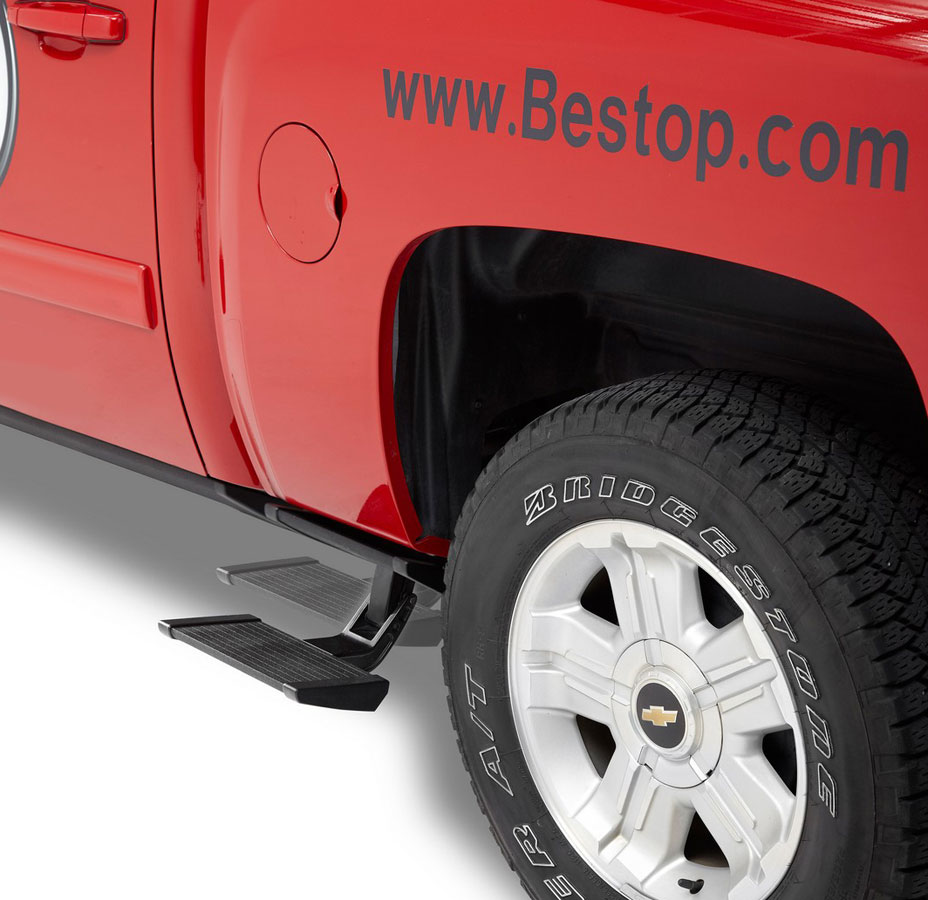 Bestop Powerboard Automatic Running Boards For Dodge Ram: Bestop TrekStep Truck Bed Step, Bestop TrekStep Side Truck