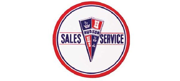 Hudson Sales & Service Vintage Sign by SignPast
