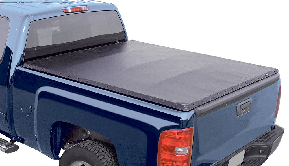 2007-2018 chevy silverado rugged vinyl snap tonneau cover - rugged