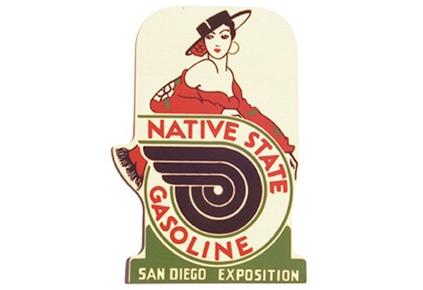Native State Gasoline Vintage Sign by SignPast