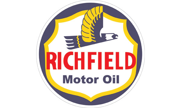 Signpast 00195 Richfield Motor Oil Steel Sign