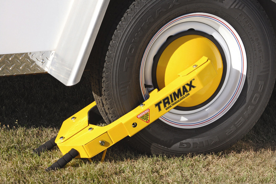 Trimax Adjustable Wheel Lock Trailer Tire Lock Ships Free
