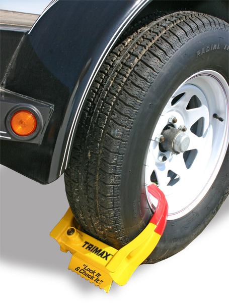 Trimax Trailer Wheel Chock Lock Trimax Trailer Wheel Lock