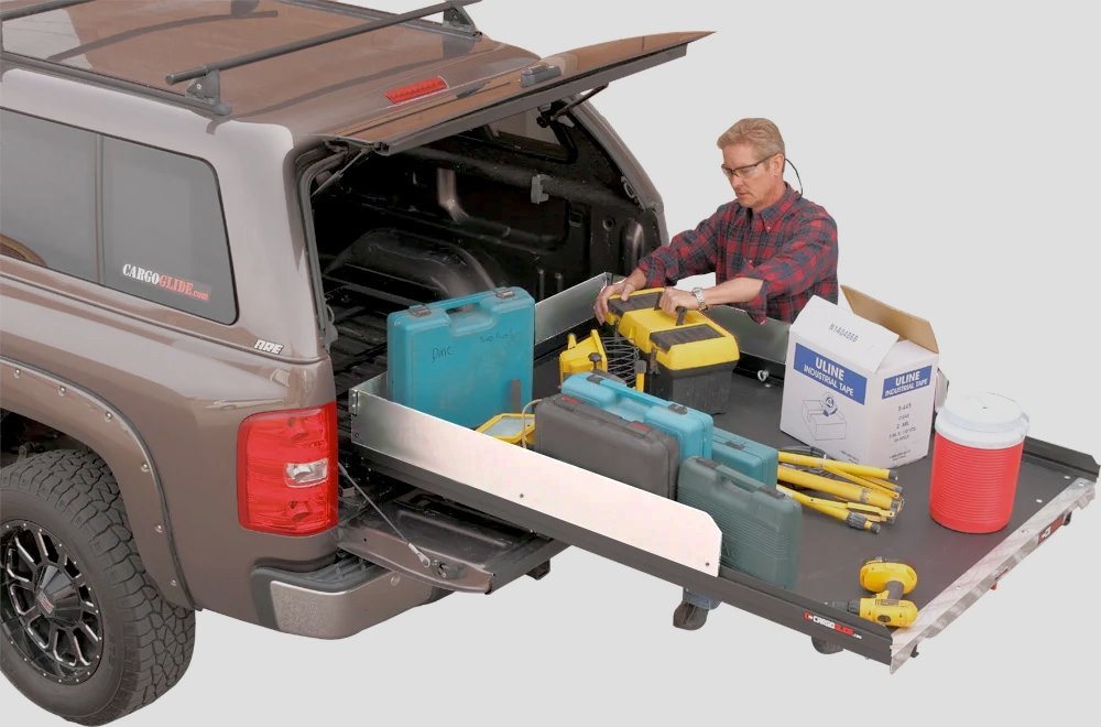 Cargoglide truck bed cargo slide free shipping for Slide out motor manufacturers