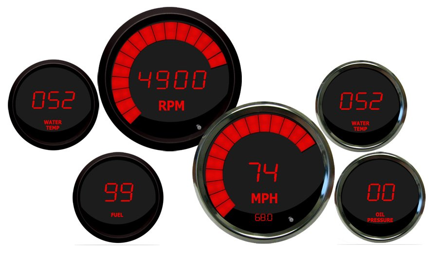 Intellitronix Led Digital Gauges Digital Speedometer Ships Free