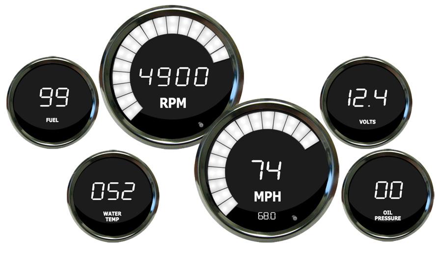 Intellitronix Led Digital Gauges : Intellitronix led digital gauges speedometer