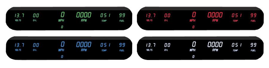 Intellitronix Led Digital Gauges : Intellitronix led digital gauge panel free shipping